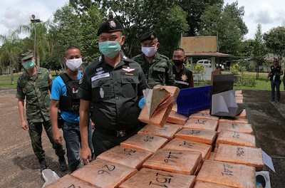 Thai Police Seize 270kg Cannabis From Banks Of Mekong River – That Makes 2 Tonnes Over Last Month In The One Province