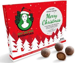 Christmas Cheer… UK's first CBD-infused chocolate advent calendar features 24 tasty truffles