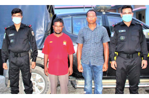 Bangladesh: Two held with 9 kg hemp in Sirajganj