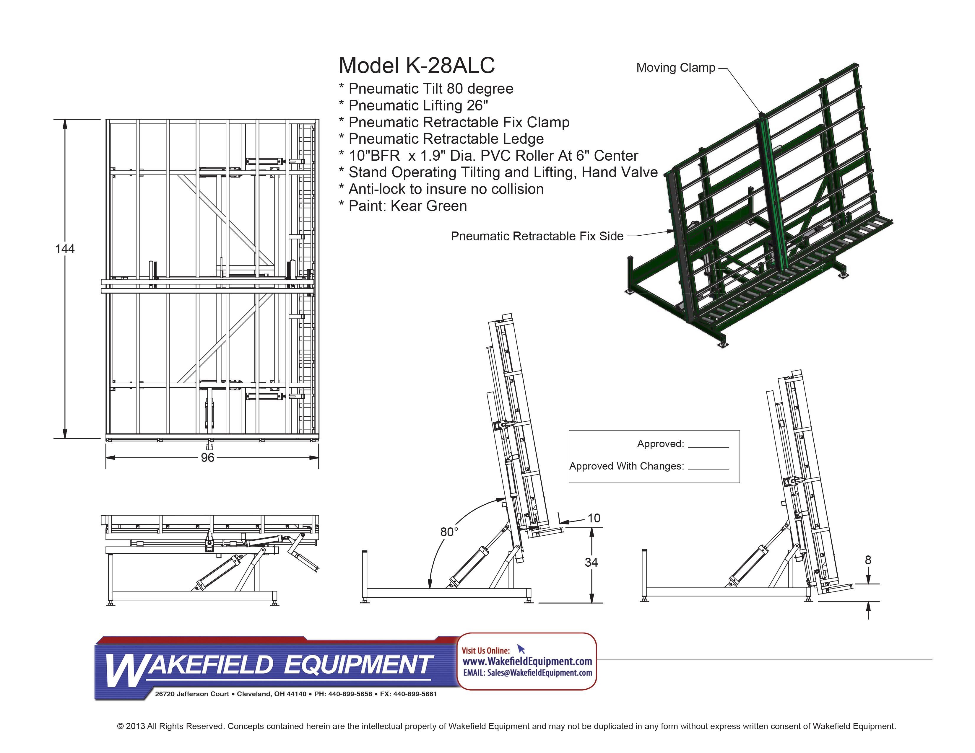 Pneumatic Tilt Transfer Table | Wakefield Equipment