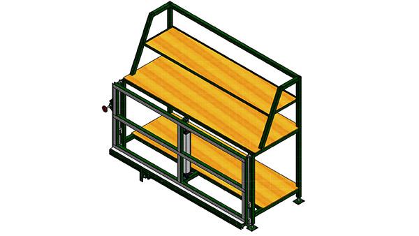 Glazing Rack W/Pneumatic Clamp