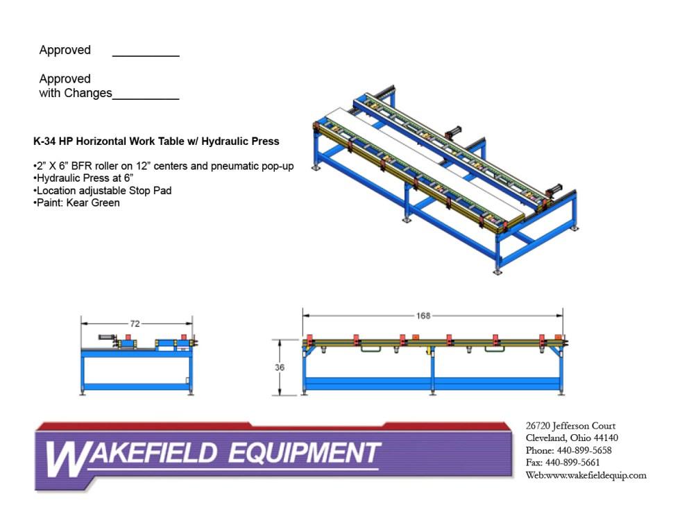 Horizontal Work Table W: Hydraulic Press CAD