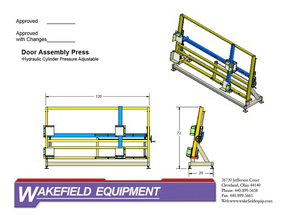Hydraulic Door Assembly Press – Tilting CAD