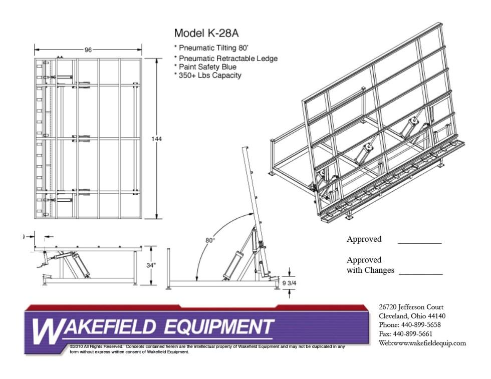 Pneumatic Tilt Table CAD