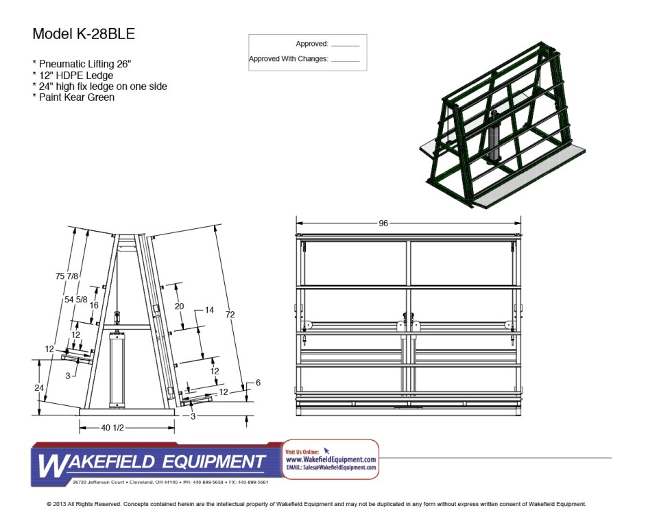 A Type Vertical Transfer Conveyor Fixed Ledge
