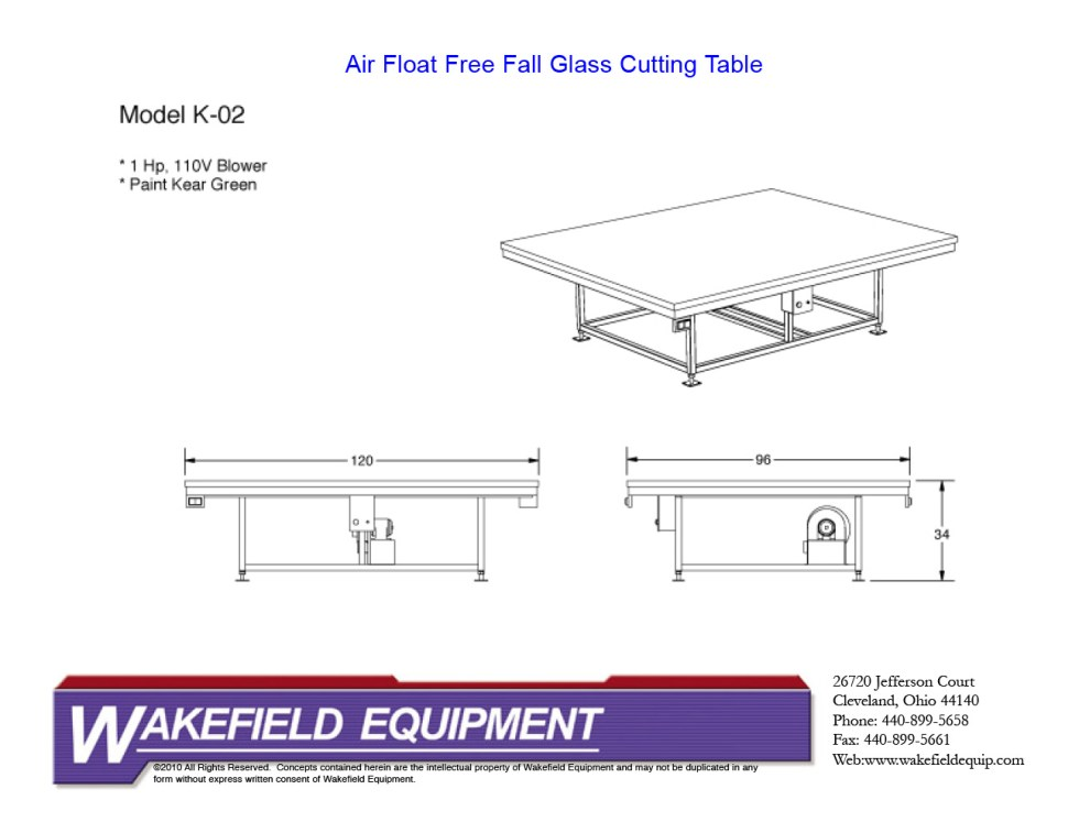Air Float Free Fall Table CAD1