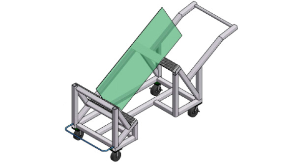 Glass Panel Transport Cart