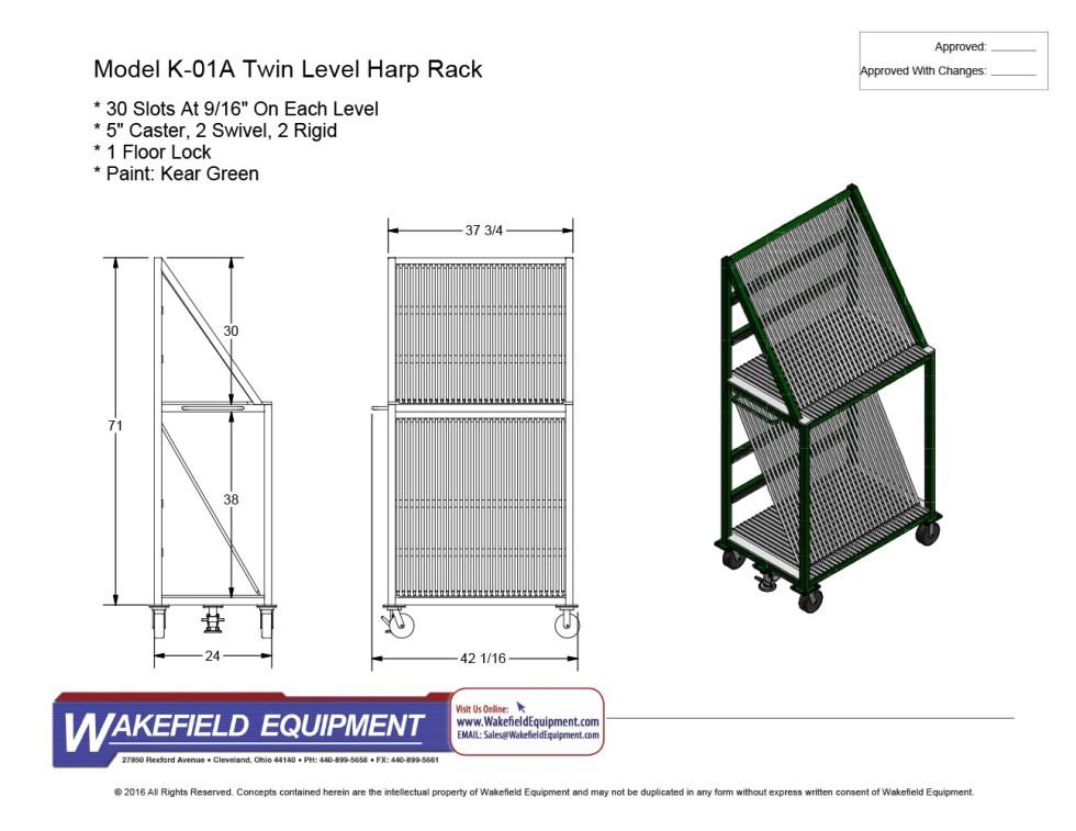 Twin Level Harp Rack K 01A