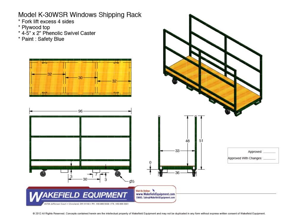 Window Shipping Rack
