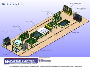 Insulate Glass Assembly Line