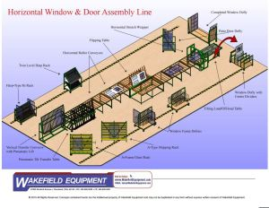 Horizontal Window and Door Assembly Line