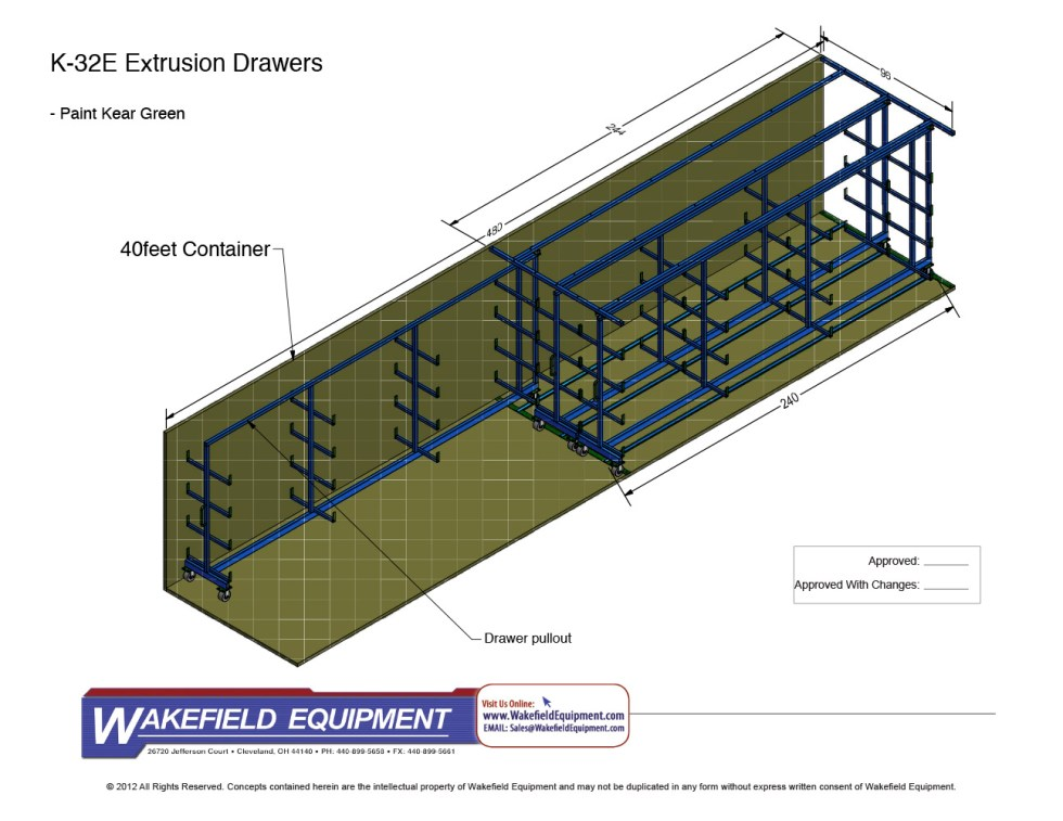Extrusion Drawer System For Container