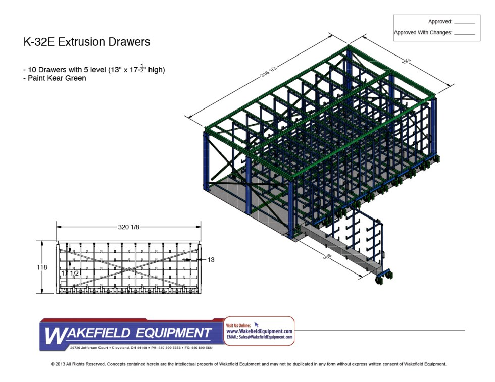 Extrusion Drawer System 10 Drawers