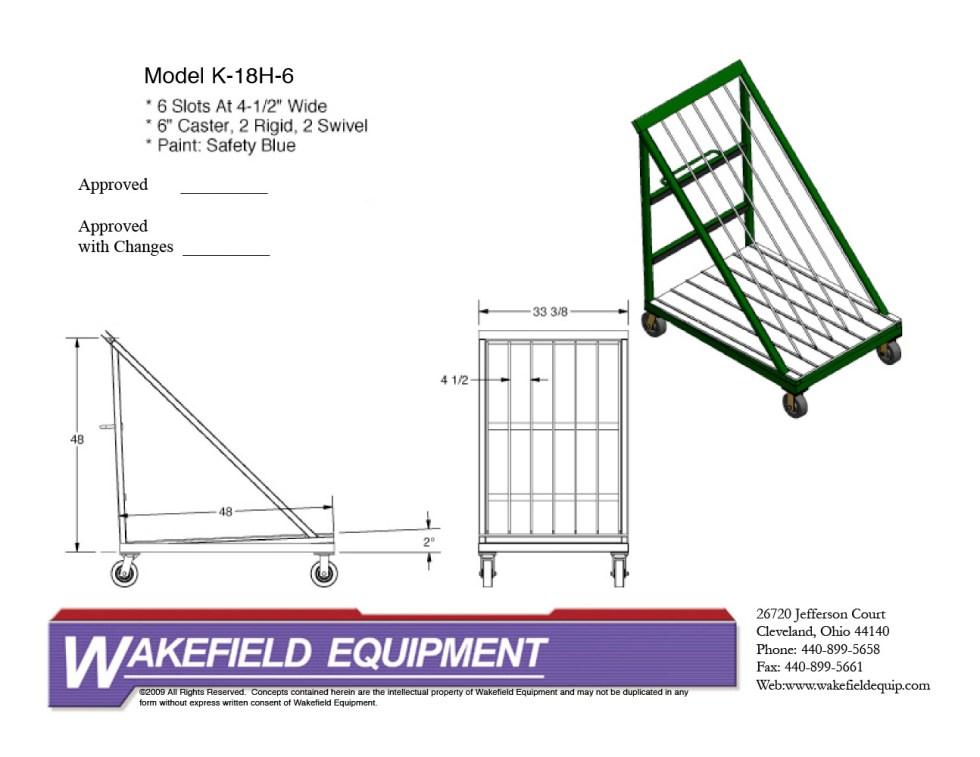 Harp Rack 6 Slots 4 1:2 Wide