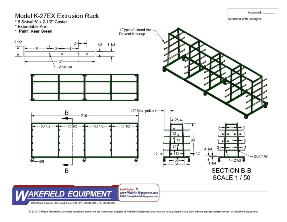 Mobile Extrusion Rack Heavy Duty