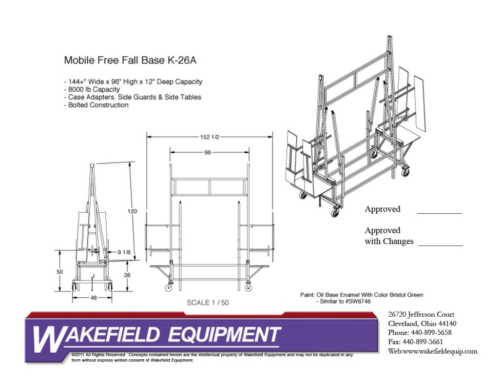 Mobile Free Fall Rack With Side Guards