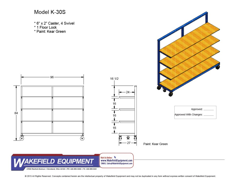 Mobile L Type Extrusion Dolly With Plywood Shelves