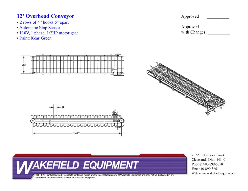 Overhead Conveyor With 2 Hooks