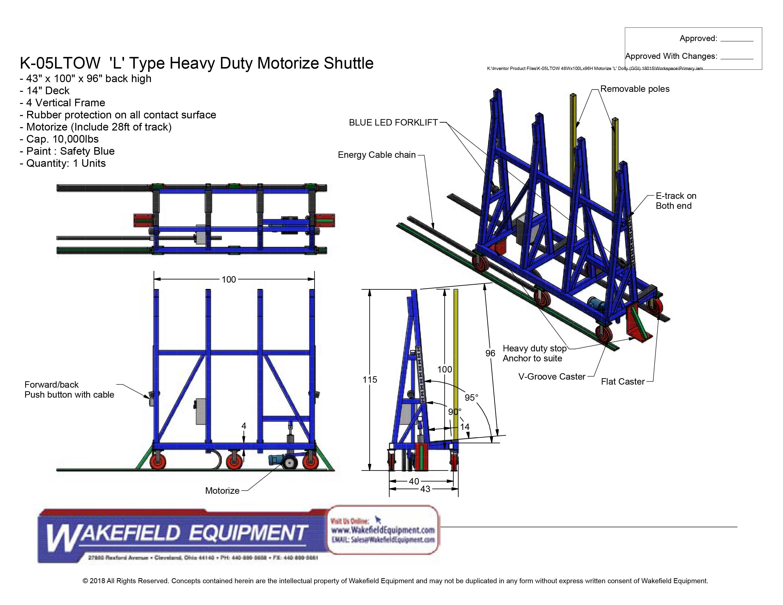 Heavy Duty Tow Dolly Wakefield Equipment