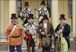 1812 reenactors on porch