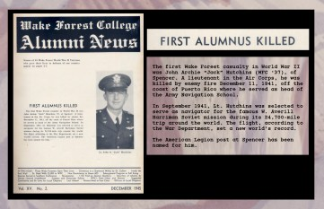 First Alumnus Killed