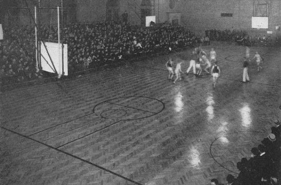 Game at Gore Gym, 1936
