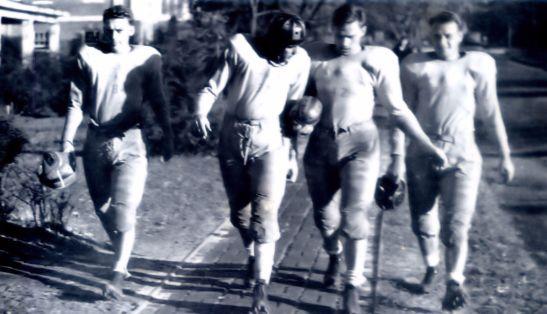 1939 Football Players, Wake Forest College, N. Main Street