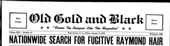 January 6, 1950 - Old Gold and Black - headline