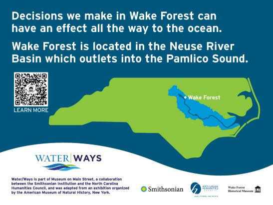 """""""Decisions we make in Wake Forest can have an effect all the way to the ocean. Wake forest is located in the Neuse River Basin which outlets into the Pamlico Sound."""""""