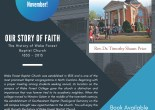 flyer for Our Story of Faith