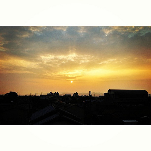 夕暮れ #iphonography #instagram #iphone5