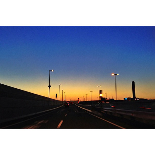 夕暮れの西名阪道 #iphonography #iphone5 #instagram