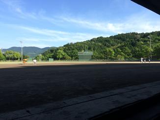 Baseball Dr. Car で野村球場へ