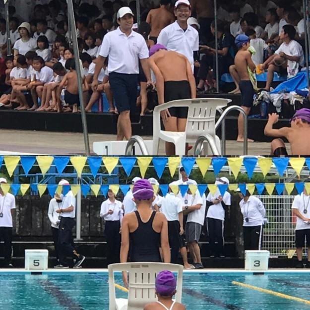 クレラップちゃん、宇和町水泳大会・4年生以下女子リレーで優勝!