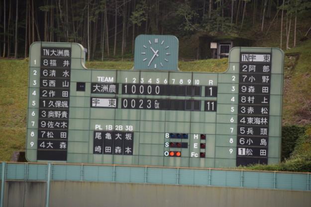 宇和島東-大洲農(第101回全国高等学校野球選手権愛媛大会1回戦)
