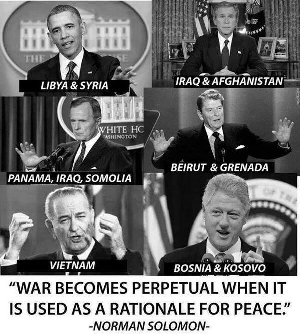 War becomes perpetual when it is used as a rationale for peace (1)