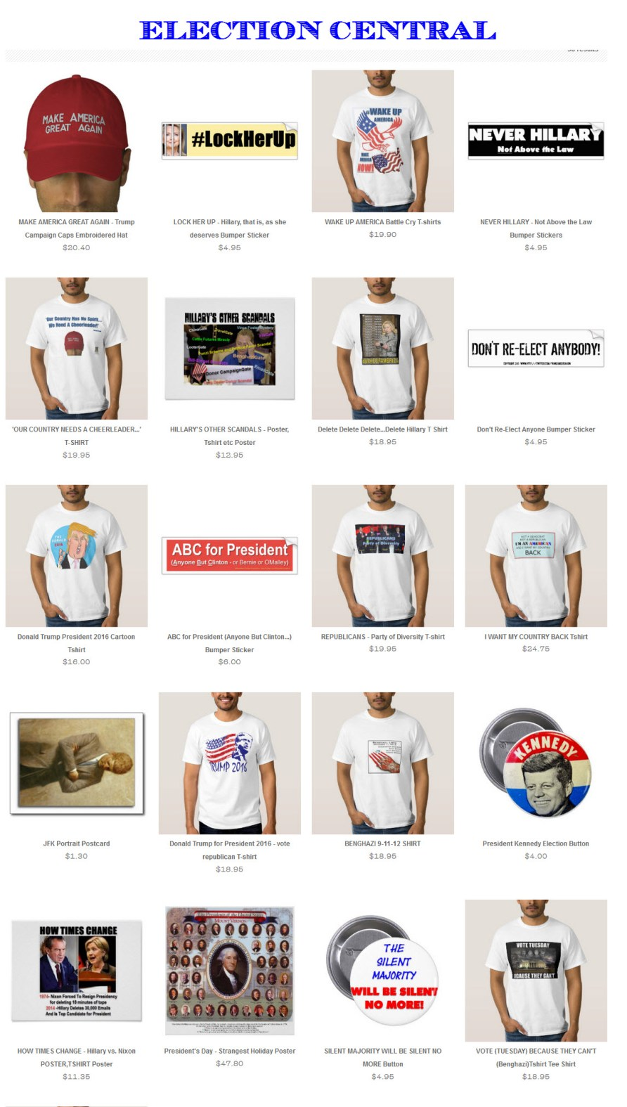 election-central-zazzle-products