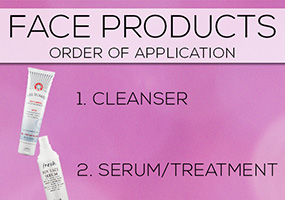 Order To Apply Face Products