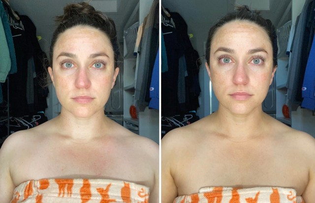 before and after of bondi sands liquid gold self tanner