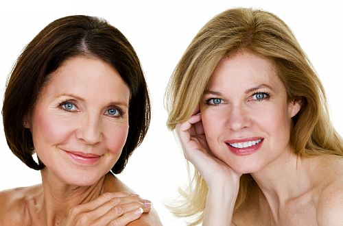 Mature Women after permanent makeup