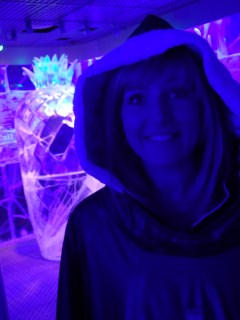 In the ice bar