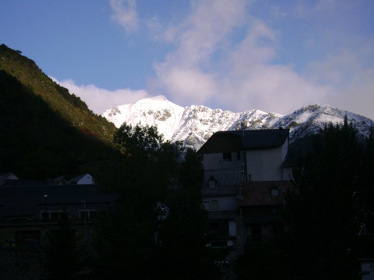 UNa vista de Bielsa esta mañana