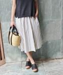 40歳からの夏服!大人世代のふんわりスカート
