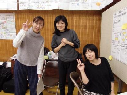 グラフィックチーム(絹村さん・牧原さん・武田さん)