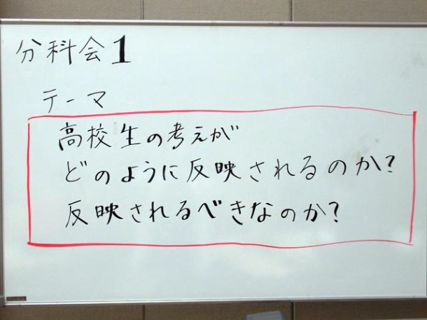 分科会1の「問い」