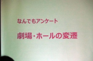 伊東さんのレクチャー「劇場・ホールの変遷」