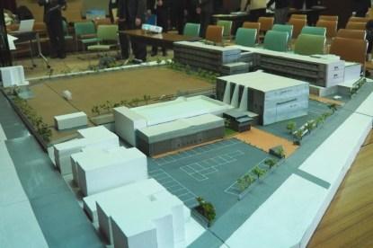 模型(駅方面から見る)