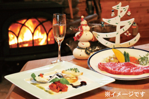 クリスマスのディナー画像