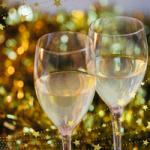 クリスマスのワイングラス