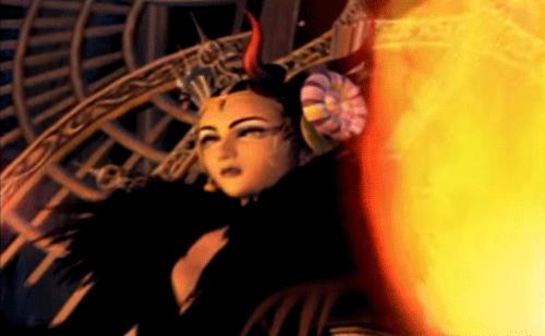 FF8のイデアが炎で妖艶に映る画像
